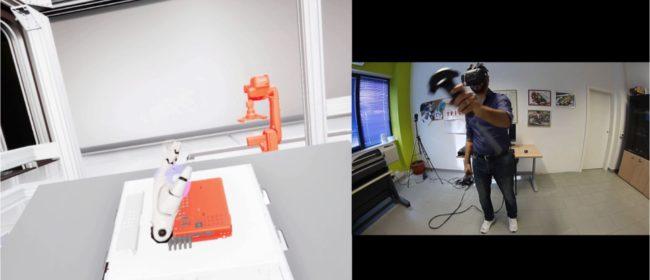 Virtual Training Station  per il montaggio  di un televisore.